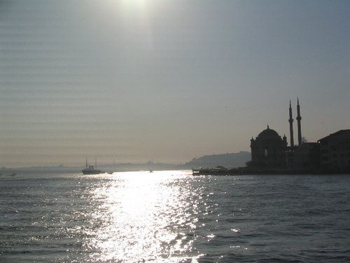 Boat view, mosque